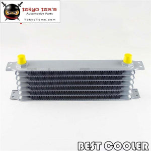 Universal An10 19 Row Engine Oil Cooler Female Metric Silver