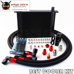 Universal An10 Thermostatic Oil Cooler Kit Thermostat High Perfomance 30 Rows Bk