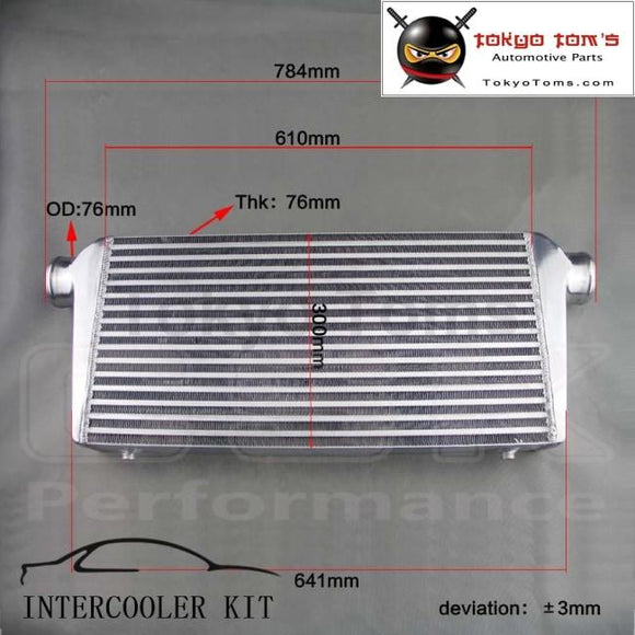 Universal Bar &plate Turbo Intercooler 27.5X11.75X3 Inlet Turbo Front Mount Racing Aluminum