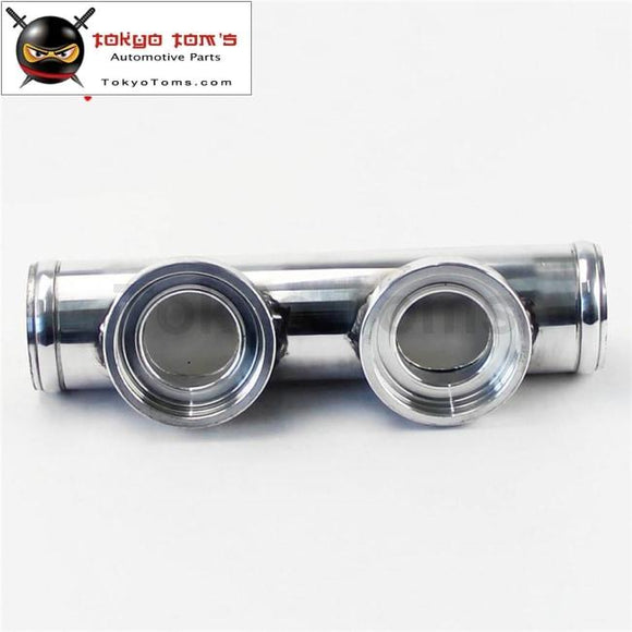 Universal Dual Two Inlet Blow Off Valve Adapter Flange Pipe 2.25 57Mm For Bov Aluminum Piping