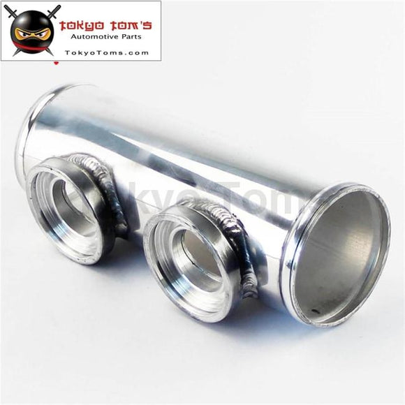 Universal Dual Two Inlet Blow Off Valve Adapter Flange Pipe 2.5 63Mm For Bov Aluminum Piping