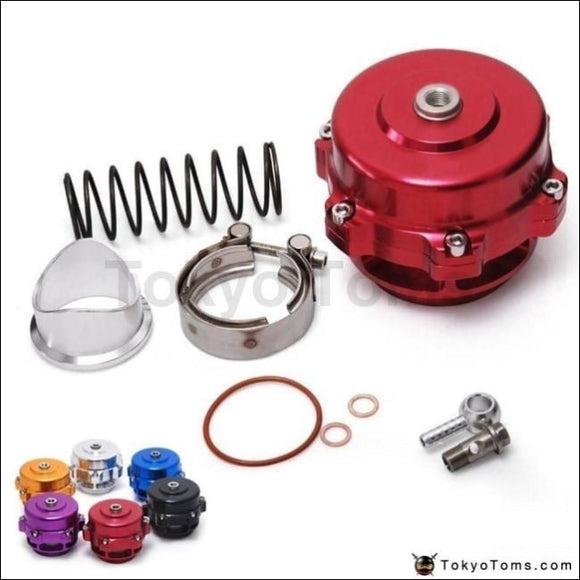 Universal Jdm 50Mm V Band Blow Off Valve Bov Q Typer W/ Weld On Aluminum Flange Turbo Parts