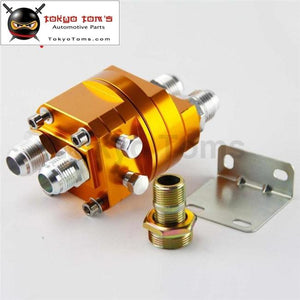 Universal Oil Filter Sandwich Adapter Cooler Gold Fit For Rsx C Ivic Sti Evo Dsm Rx7 Rx8 240Sx Gtr