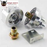 Universal Oil Filter Sandwich Adapter Cooler Silver Fit For Rsx Civic Sti Evo Dsm Rx7 Rx8 240Sx Gtr
