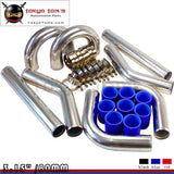 "Universal Turbo Boost Intercooler Pipe Kit 3.15"" 80mm 8Pcs Piping L= 450mm Bl"