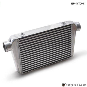 Universal Turbo Intercooler 450X300X76 Front Mount Intcooler For Honda Civic Integra Saab 3 Inlet &
