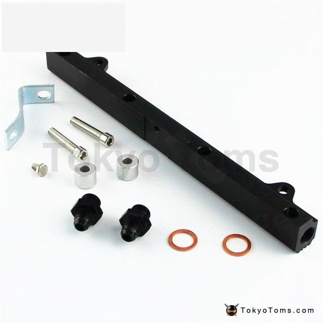 Upgrade High Flow Top Feed Injector Fuel Rail Fits For Mitsubishi Lancer  EVO 4-9 4G63 Black