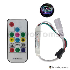Wireless Remote Mini RF LED Controller WS2812 300 Kinds Change Color For WS 2812b LED Light Strip - DC 5V SP103E Digital 14Key RGB