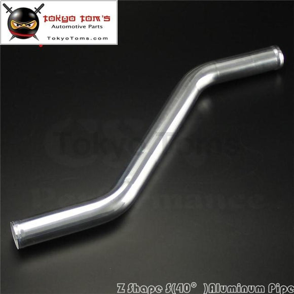 Z / S Shape Aluminum Intercooler Intake Pipe Piping Tube Hose 35Mm 1.38 Inch L=450Mm