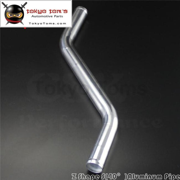 Z / S Shape Aluminum Intercooler Intake Pipe Piping Tube Hose 38Mm 1.5 Inch L=450Mm