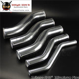 Z / S Shape Aluminum Intercooler Intake Pipe Piping Tube Hose 57Mm 2.25 Inch L=450Mm