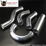 Z / S Shape Aluminum Intercooler Intake Pipe Piping Tube Hose 60Mm 2.36 Inch L=450Mm