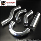 Z / S Shape Aluminum Intercooler Intake Pipe Piping Tube Hose 63Mm 2.5 Inch L=450Mm