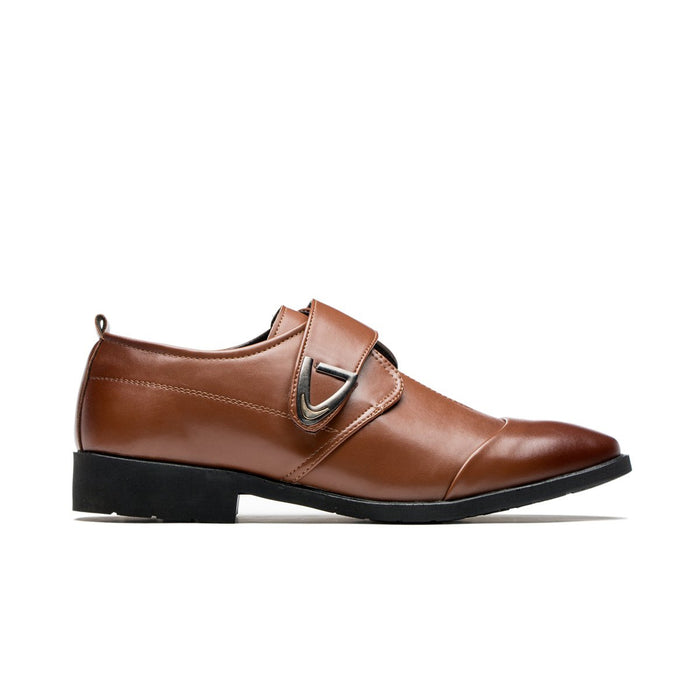 Breathable Monk Straps Pointed Toe Grade A Leather Shoes