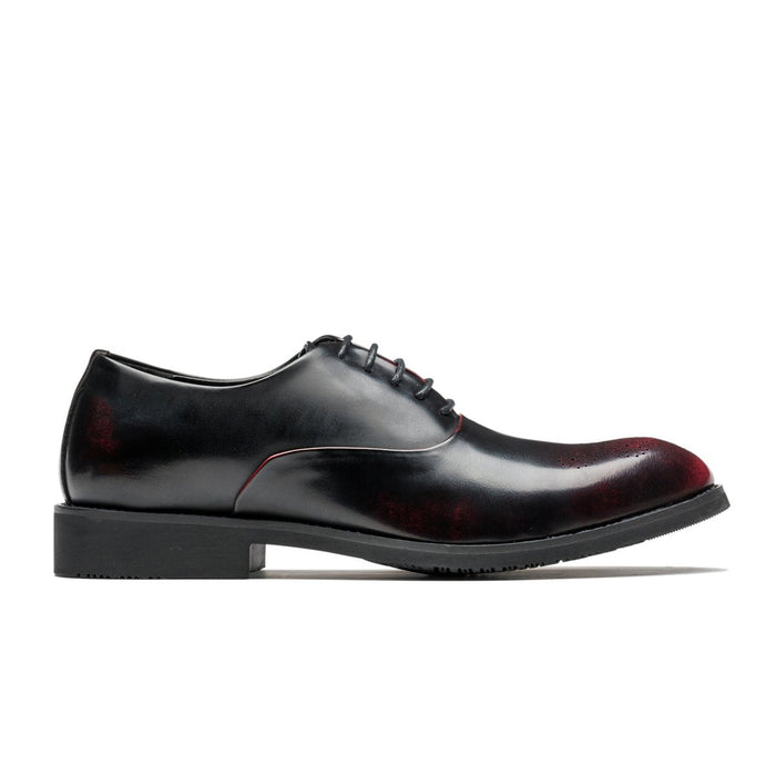 Oxford Brogue Medallion Pointed Toe Grade A Leather Shoes