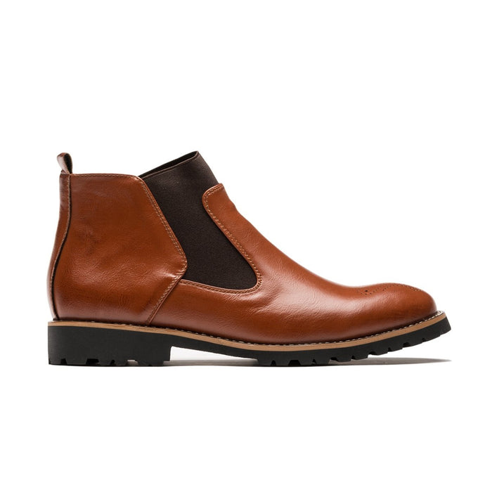 Men's Hugh Chelsea Boots, Created for ETOO/Brown