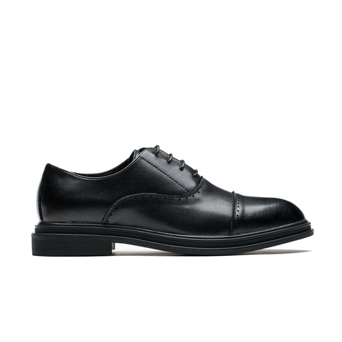 Oxford Brogue Uniform Style Pointed Toe Grade A Leather Shoes