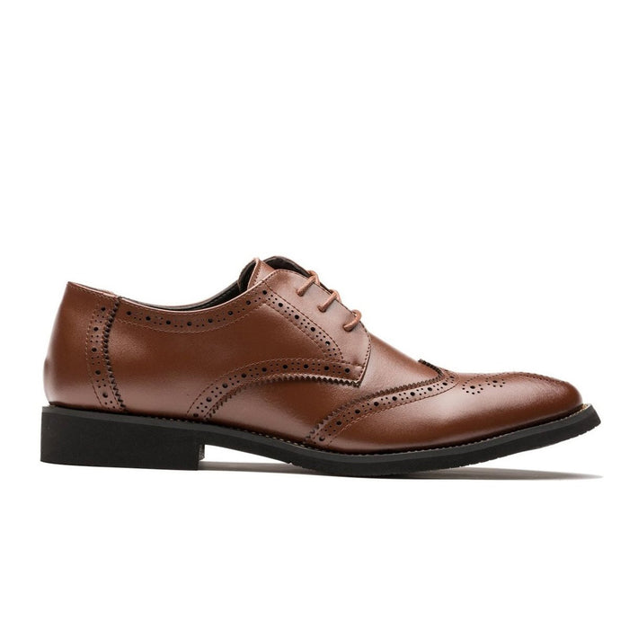 Derby Brogue Medallion Pointed Toe Grade A Leather Shoes