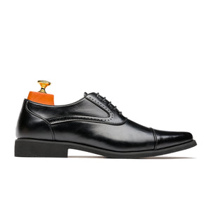 Oxford Business Style Pointed Toe Genuine Leather Shoes Black