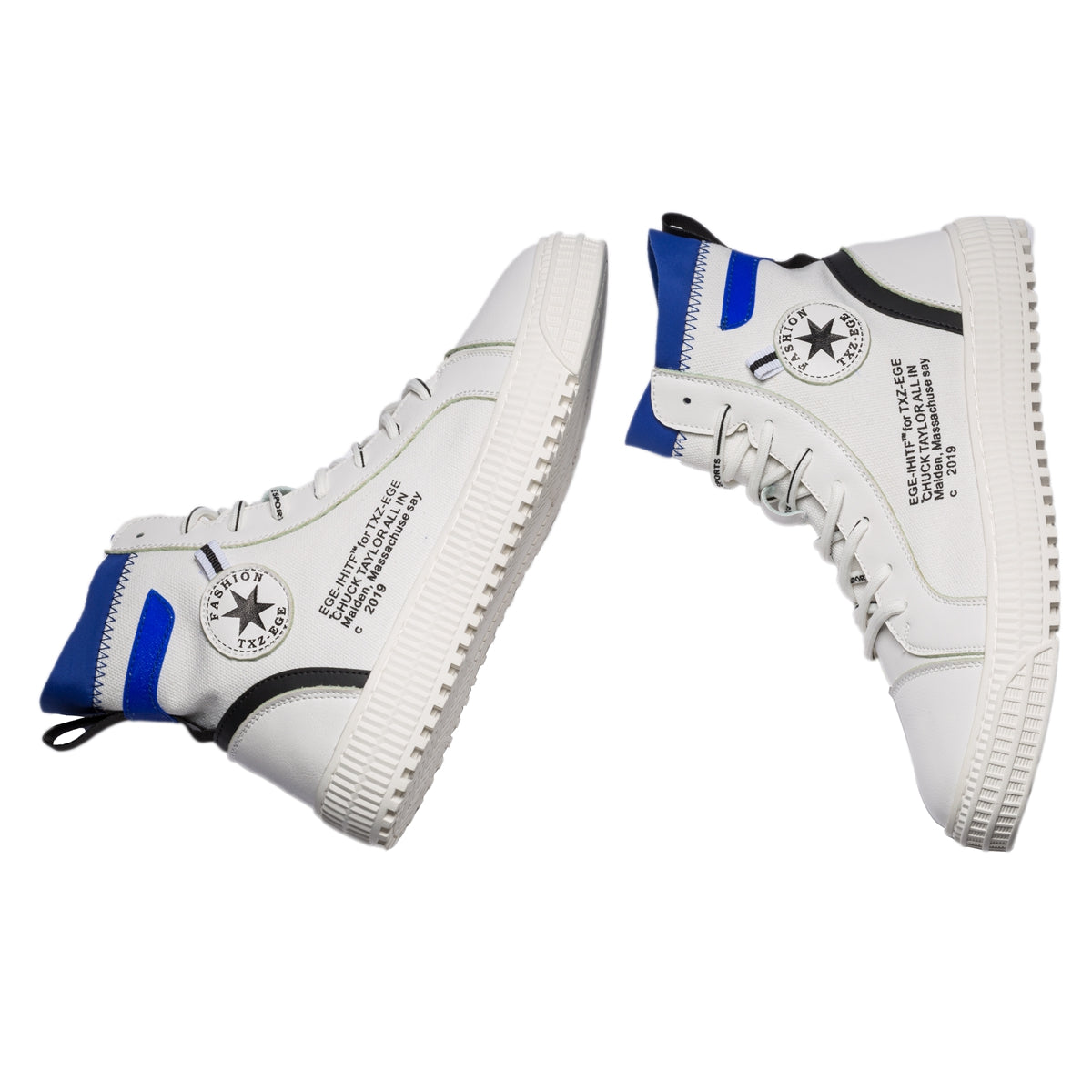 86b7089e6a0d High Top English Letters Pattern Lace-up Leather Shoes – etoostore.com