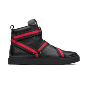 MEN HIGH-TOP SHOES BLACK