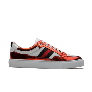 CASUAL LACE-UP SKATE SHOES RED