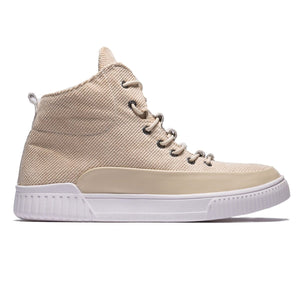 High Top Sport Style Solid Color Lace-up Linen Shoes
