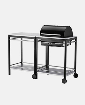 Charcoal grill, stainless steel