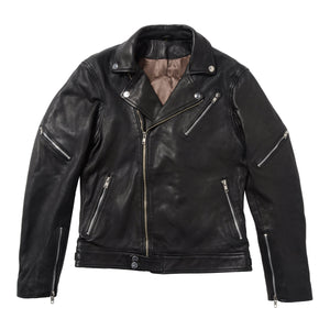 BLACKFLAG DOUBLE RIDERS JACKET BLACK  BFJ02