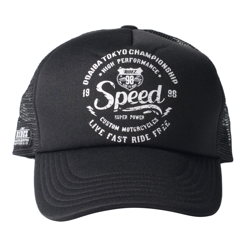 RIDEZ MESH CAP SPEED BLACK RC03