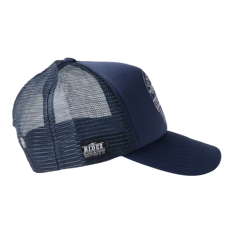 RIDEZ MESH CAP INSPIRED NAVY RC01