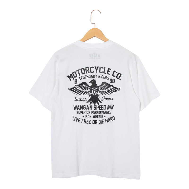 RIDEZ Tee MOTORCYCLE RT12 WHITE