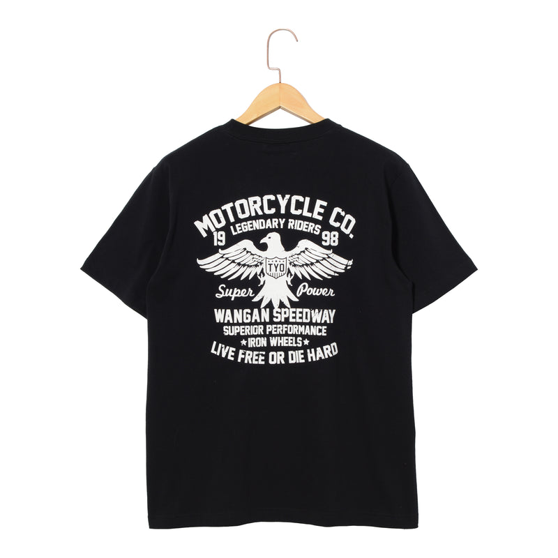 RIDEZ Tee MOTORCYCLE RT12 BLACK