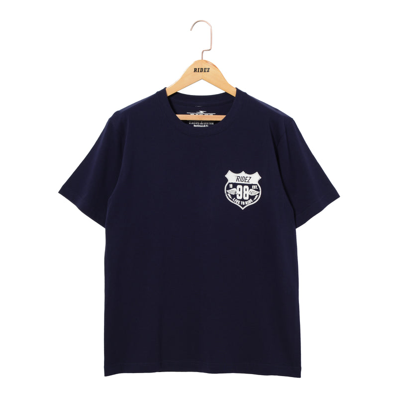 RIDEZ Tee MOTORCYCLE RT12 NAVY