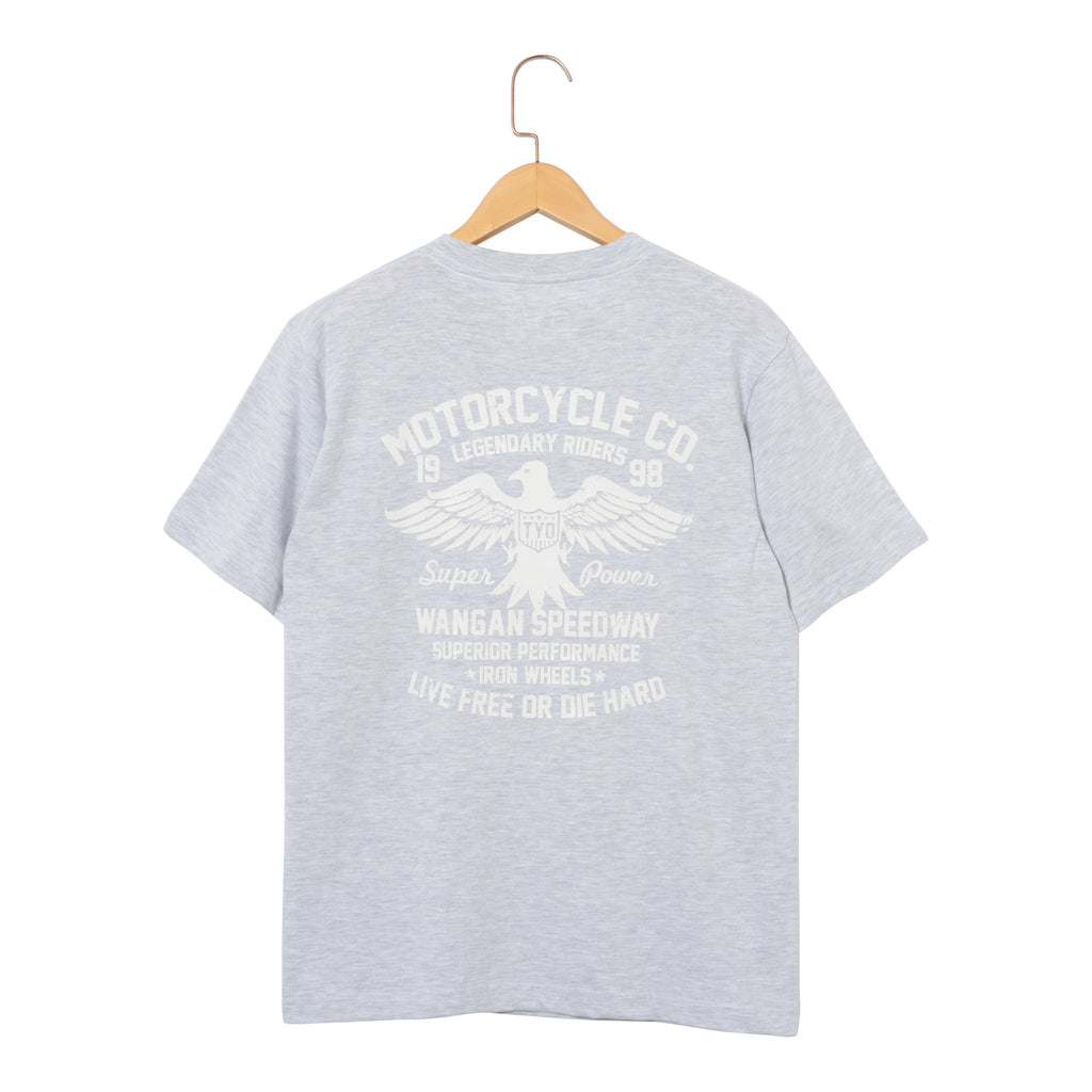 RIDEZ Tee MOTORCYCLE RT12 ASH