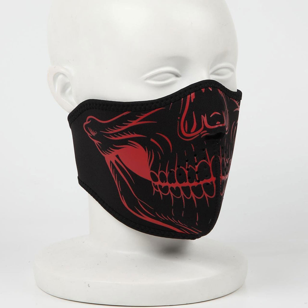 NEO FACEMASK RFM03 X/SKULL RED