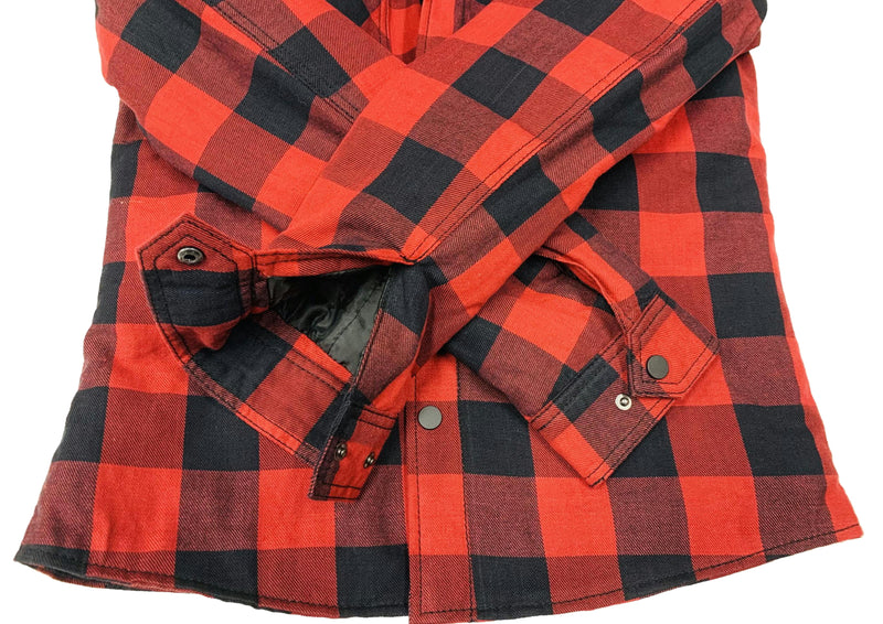 RIDEZ MOTO FLANNEL SHIRTS RED RMF01
