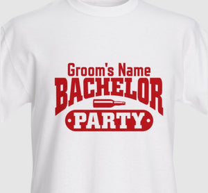 Bachelor Party White Tshirt