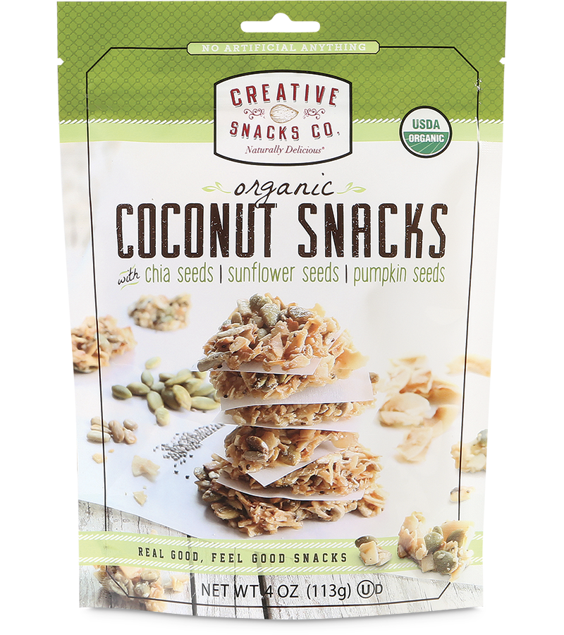 Organic Coconut Snacks: Chia Seeds, Sunflower Seeds, & Pumpkin Seeds