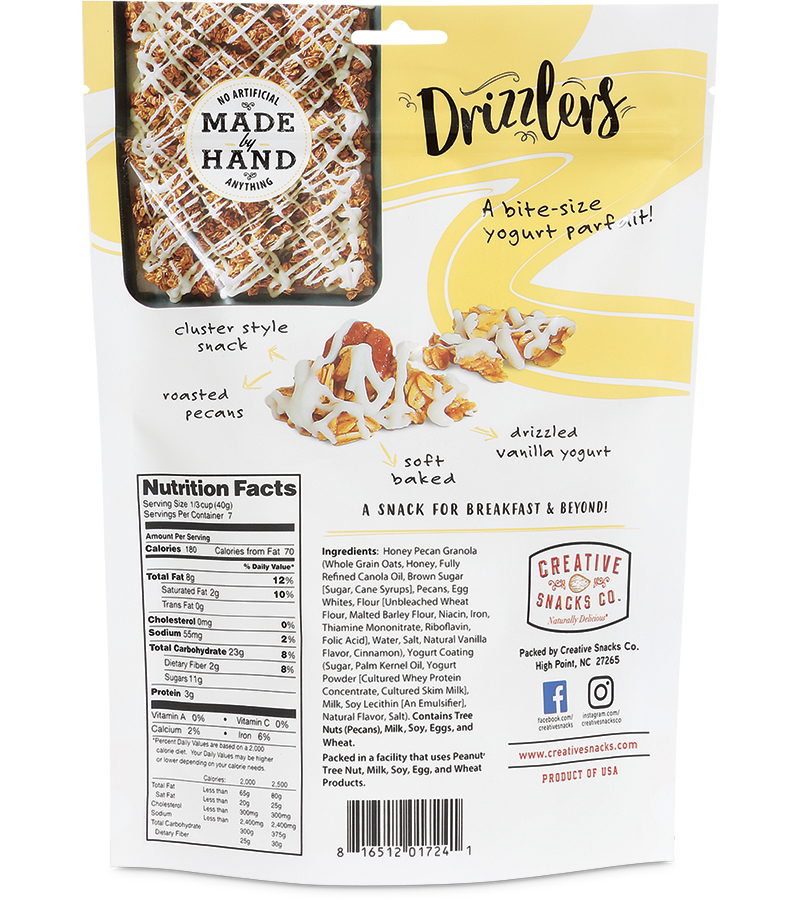 Drizzlers: Honey Pecan