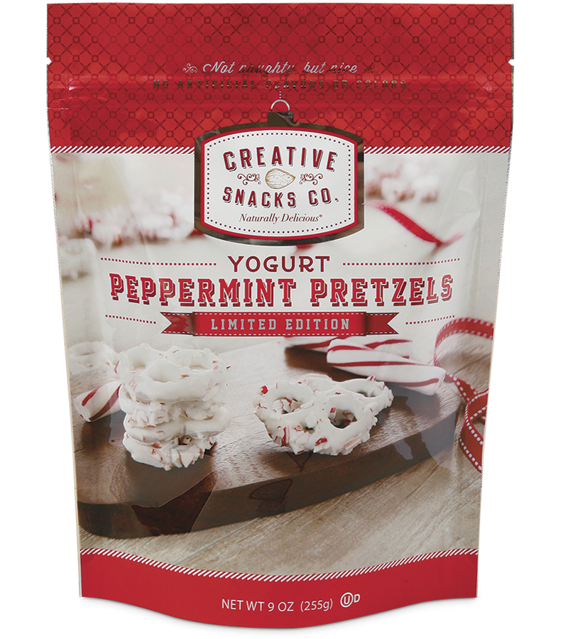 Yogurt Peppermint Pretzels