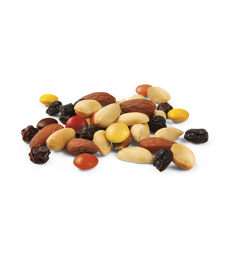 After School Mix: Peanuts, Raisins, Milk Chocolate, Almonds