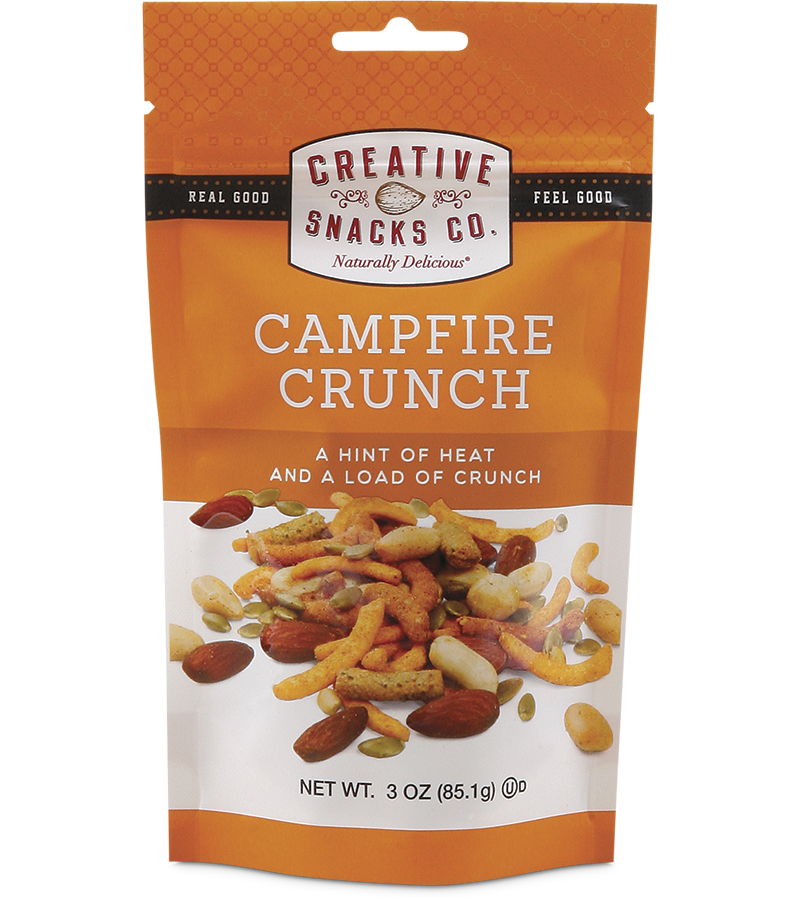 Campfire Crunch: Peanuts, Almonds, Corn Snacks, Sesame Sticks, Pumpkin Seeds, Cheddar Sticks