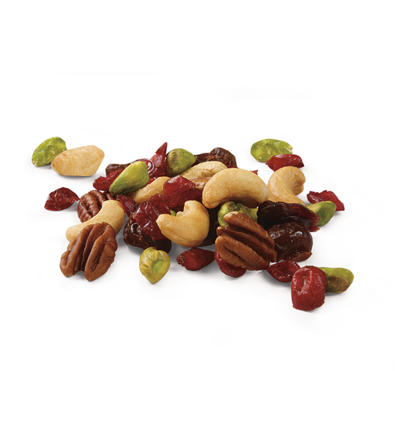 Gourmet Blend: Dried Cranberries, Cashews, Dried Cherries, Pecans and Pistachios