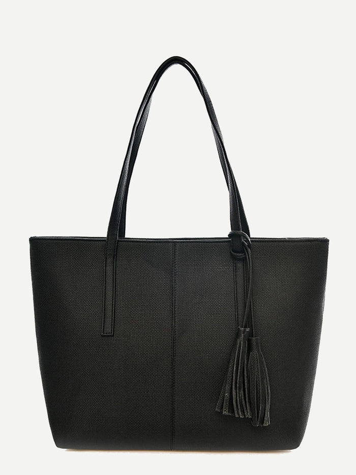 Work Bags - Tassel Decor Tote Bag