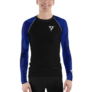 Men's Blue Coast Performance Rash Guard UPF 40+