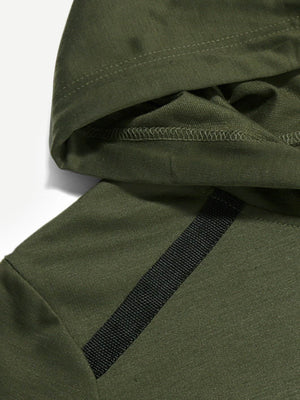 Men's Hoodies - Tape Detail Hooded Sweatshirt