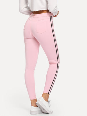 Women's Jeans - Contrast Taped Side Jeans