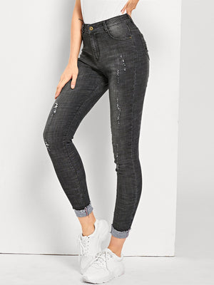 Jeans For Women - Ripped Faded Wash Jeans