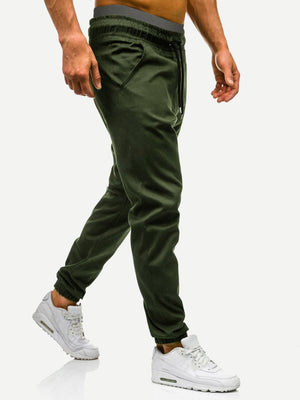 Men's Athletic Apparel - Drawstring Waist Solid Joggers